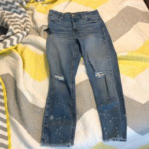 Urban outfitters cropped distressed mom jeans